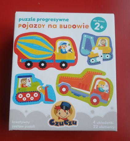 Puzzle CzuCzu Pojazdy na budowie