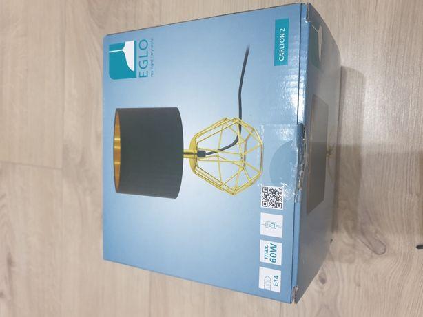 Eglo Carlton 2 lampa stołowa czarna Nowa