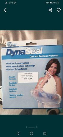 Manga plástica para tomar banho, protecção para ligadura ou gesso