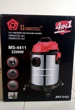 Промышленный пылесос 2200W Домотек для влажной и сухой уборки