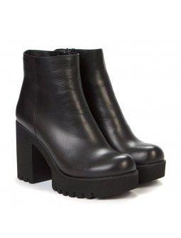 Кожаные зимние ботинки WLADNA