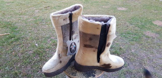 Nowe norweskie Kozaczki śniegowce z naturalnego futra