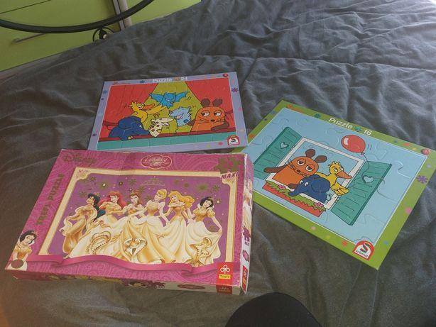 Puzzle maxi dla dzieci 2+ 3 układanki, cena z wszystko
