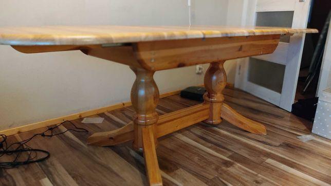 Stół sosna i 8 krzeseł lite drewno