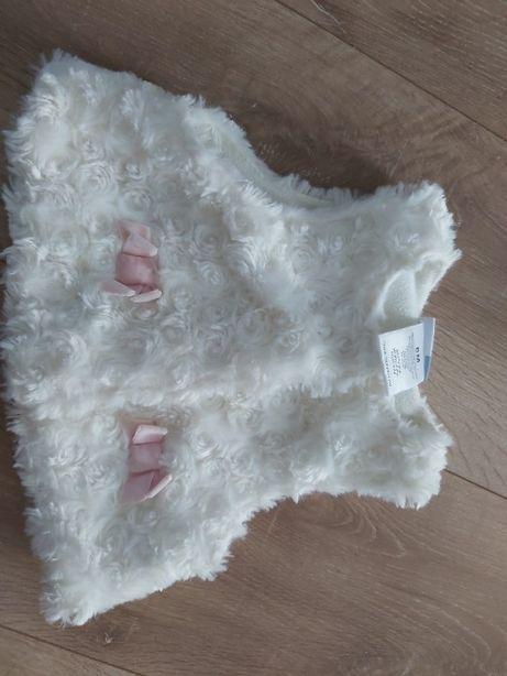 kamizelka futerko dla dziewczynki 6 -12 miesięcy