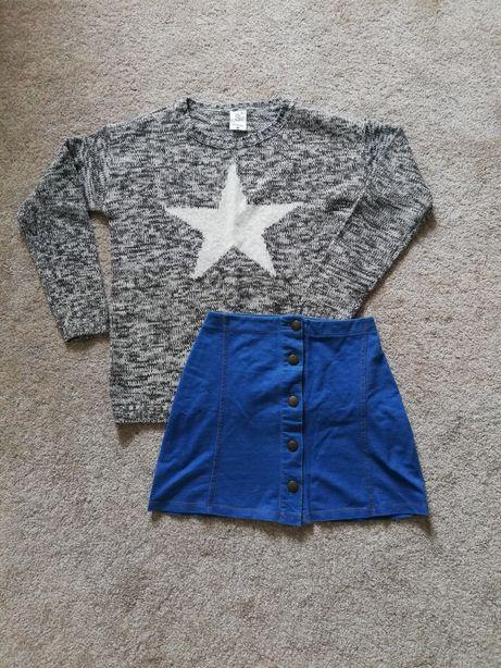 Zestaw sweterek sinsay m spódniczka z guziczkami asos s 36