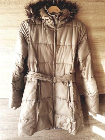 Diverse kurtka jesienno zimowa płaszcz pikowany damski beżowy S