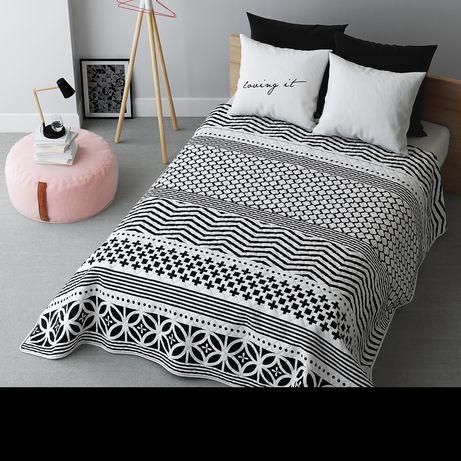 Narzuta na łóżko Room99, Black&White 220x240