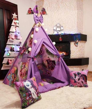 Вигвам детский палатка Пони фиолетовый игровой домик шалаш вігвам