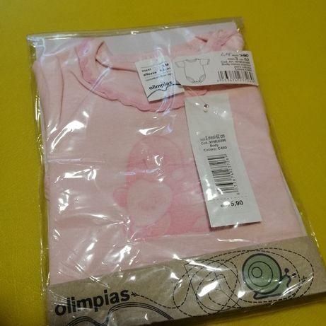 Боди розовый olimpias 62 р H&M новый