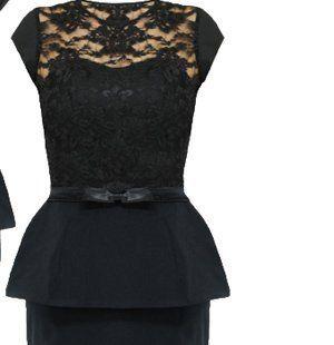nowy piękny komplet koronka baskinka czarny