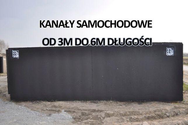 Zbiornik betonowy na kanał samochodowye gnojowica, deszczówka kanały