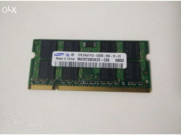 Memória portatil samsung 1gb pc2-5300s-555-12-e3 ddr2