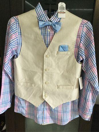 Стильный фирменный нарядный костюм, костюмчик для мальчика 10-12 лет