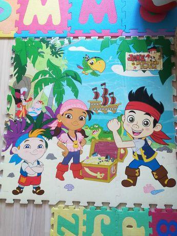 Tapete puzzle em espuma para criança Jake e os Piratas (Disney)