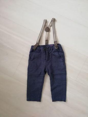 Cocodrillo spodnie z szelkami eleganckie chłopięce roczek 80
