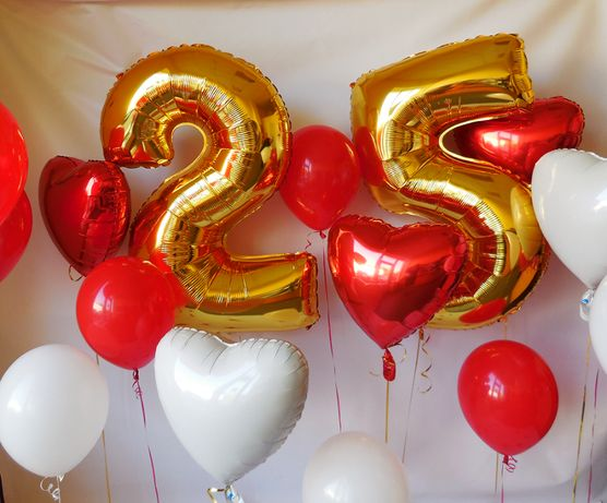 Цифра на день рождения фольгированные шары) 76 см кульки, шарики