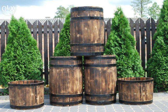 stara BECZKA drewniana BECZKI drewniane nie dębowe DEKORACJA DONICZKA