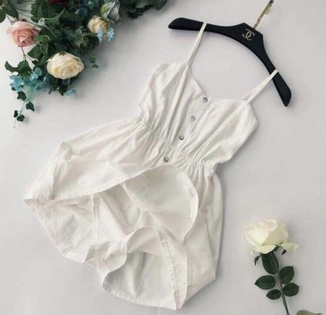Белый сарафан платье на пуговичках