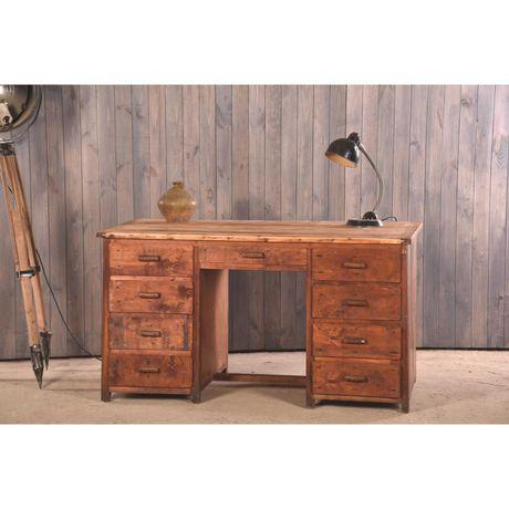 Деревянный стол с шухлядами, ретро стол, рабочий стол, письменный стол