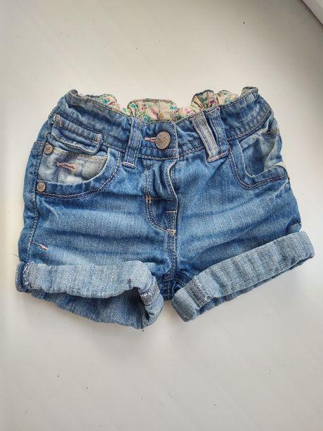 Джинсовые шорты для девочки next 86 см