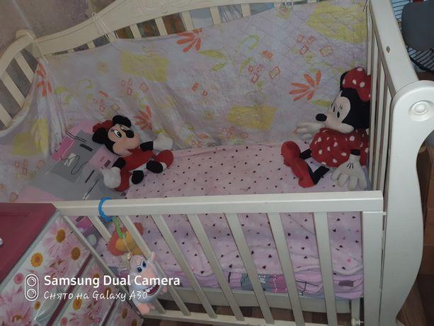 Детская кроватка +мобиль в подарок )