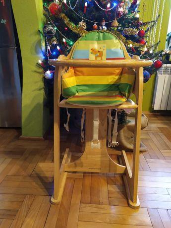 Drewniane krzesło do karmienia mothercare