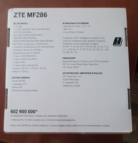 Router MF286 nowy