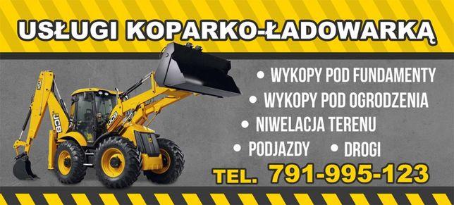 Usługi Koparka-Ładowarką Transport Wywrotka