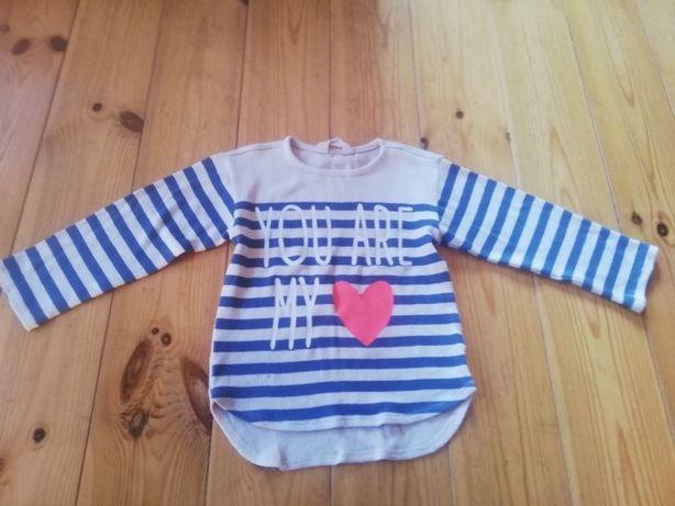 Sweter HM, bluzka dzianinowa, r. 110-116