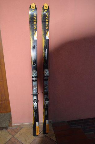 narty zjazdowe Salomon Scream 184 cm + wiązania Marker Titanium