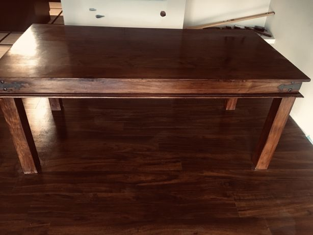 Stół drewniany drzewo egzotyczne 180x 90 kolonialny