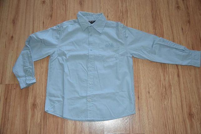 dwie bawełniane koszule dla chłopca z długim rękawem roz 134 140
