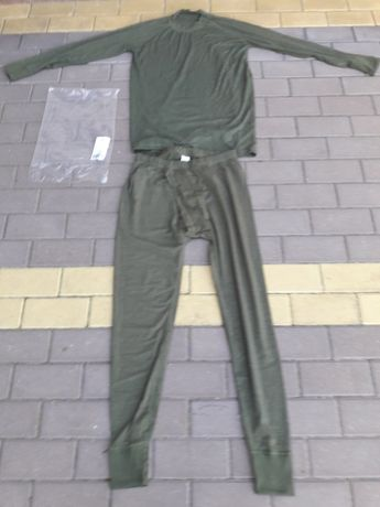 bielizna zimowa wojskowa kolor khaki nowy wzór 507T/MON