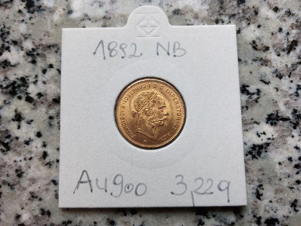 Złota moneta 1892r. 10 franków/4 floreny