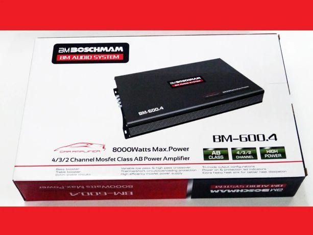 Усилитель BM Audio BM-600.4 (4 канальный 8000W) сабвуфер динамики авто