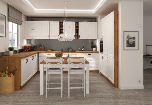 Nowa kuchnia Aneks KLEO fronty FREZOWANE MDF meble kuchenne stylowe