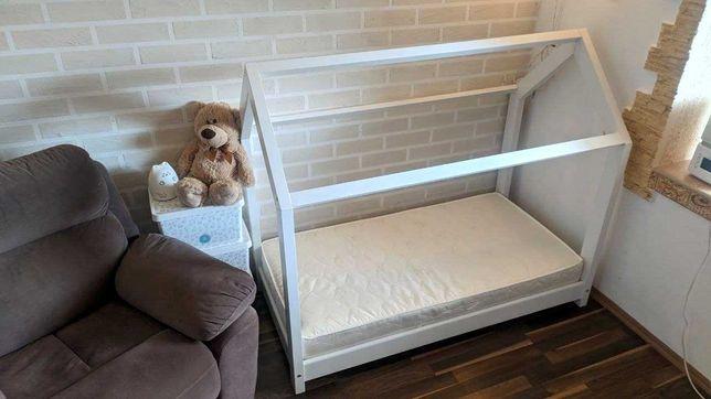 Кроватка-домик VitaliSpa, 70x140, белая + новый матрас, всё как новое!