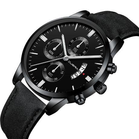 Nowy Stylowy Zegarek Męski Cuena II - Limited Black