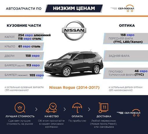 Кузовные, оптика | Nissan Rogue Leaf Juke и др. | капот, бампер, фара