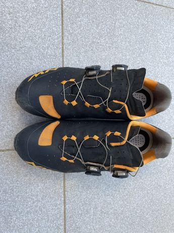 Sapatos BTT Northwave Rebel preto laranja