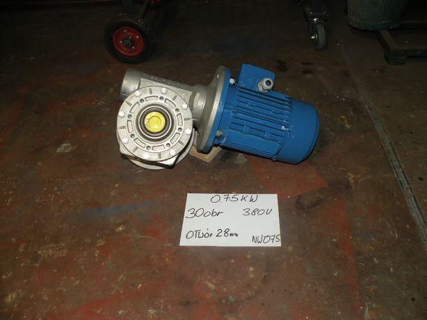 motoreduktor giętarka przekładnia slimakowa075kw 380 v 30 obrotów