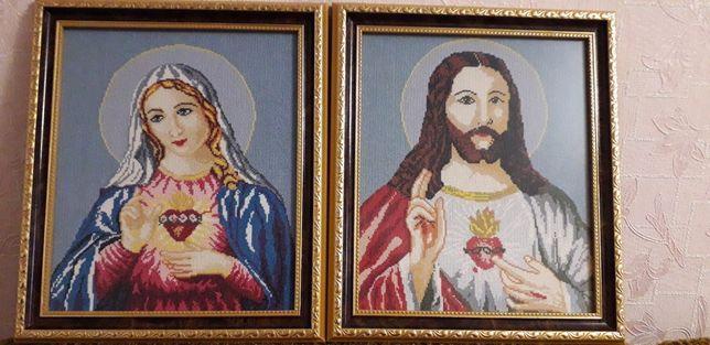 """Иконы """"Непорочное сердце Девы Марии и Иисуса"""""""