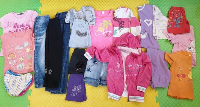 Лот вещей 104-110-116 ветровка джинсы шорты футболки лосины теплые