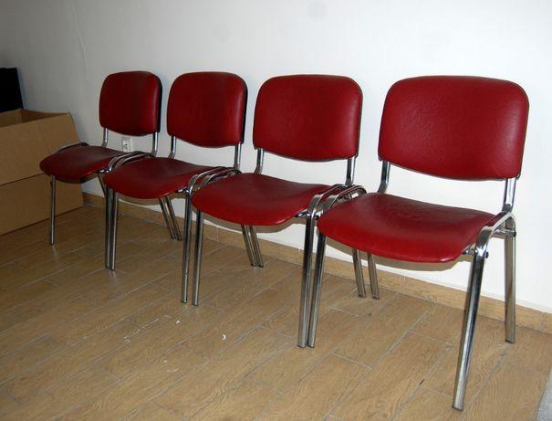 krzesła biurowe x4, solidne stalowe