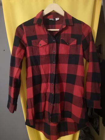 Koszula w kratkę czarno czerwona napy r. 146