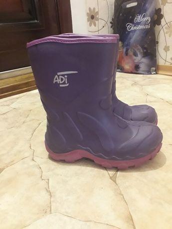 Сапоги резиновые непромокаемые ботинки на девочку с утеплителем 31