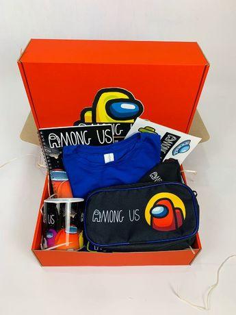 Among Us набор - Подарочный Бокс Амонг Ас Maxi Box пенал футболка чашк