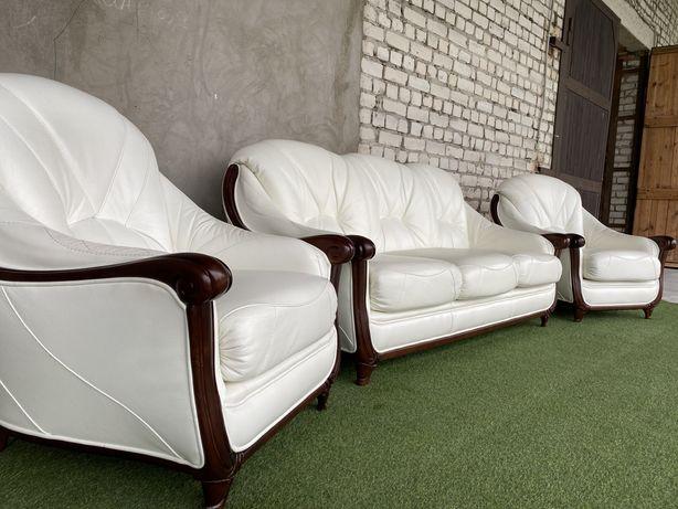 Шкіряний комплект 3+1+1 стан ИДЕАЛ   ІДЕАЛ кожаный диван