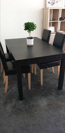 Mesa extensível de jantar com 4 cadeiras